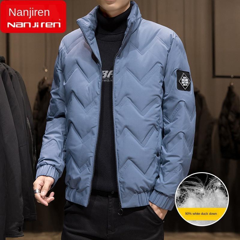 Зимняя куртка вниз мужские куртки новый модный бренд тренд молодежной зимней одежды короткие тонкие толстые одежды