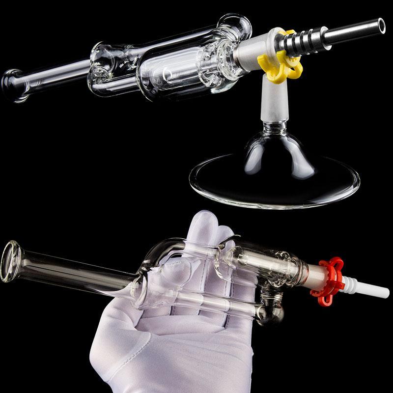 CSYC Kawumm Pro Glass Bong Kit Ständer Grundwachs Dab Rigs 14mm Joint Oil Rigs Glas Wasser Bongs