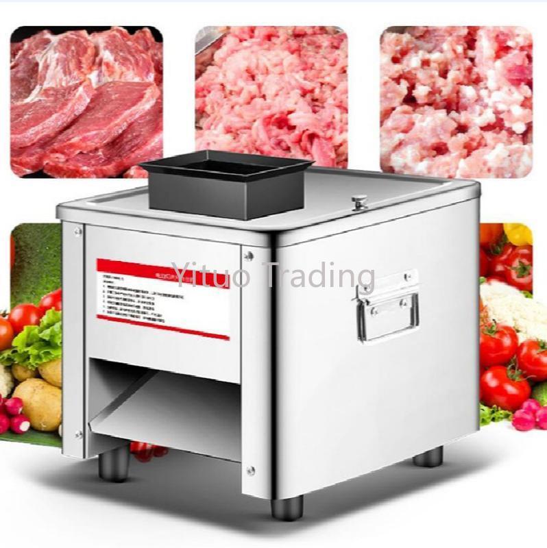 TJ - 85Multi-функция Мясо Slicer бытовая Торговля и нержавеющей стали полностью автоматическая коробка передач Shred Slicer Электрические нарезки овощей