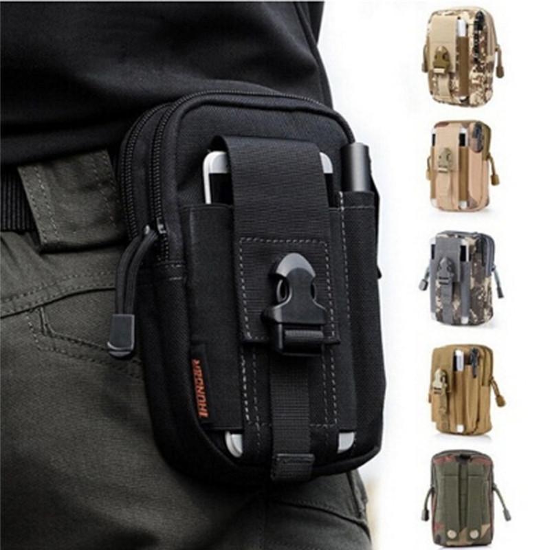 2021 New Men Waist Pack Bum Bag Sacchetto custodia impermeabile Cintura in vita Pacchetti Molle Nylon Telefono cellulare Portafoglio Viaggio Tool Bag
