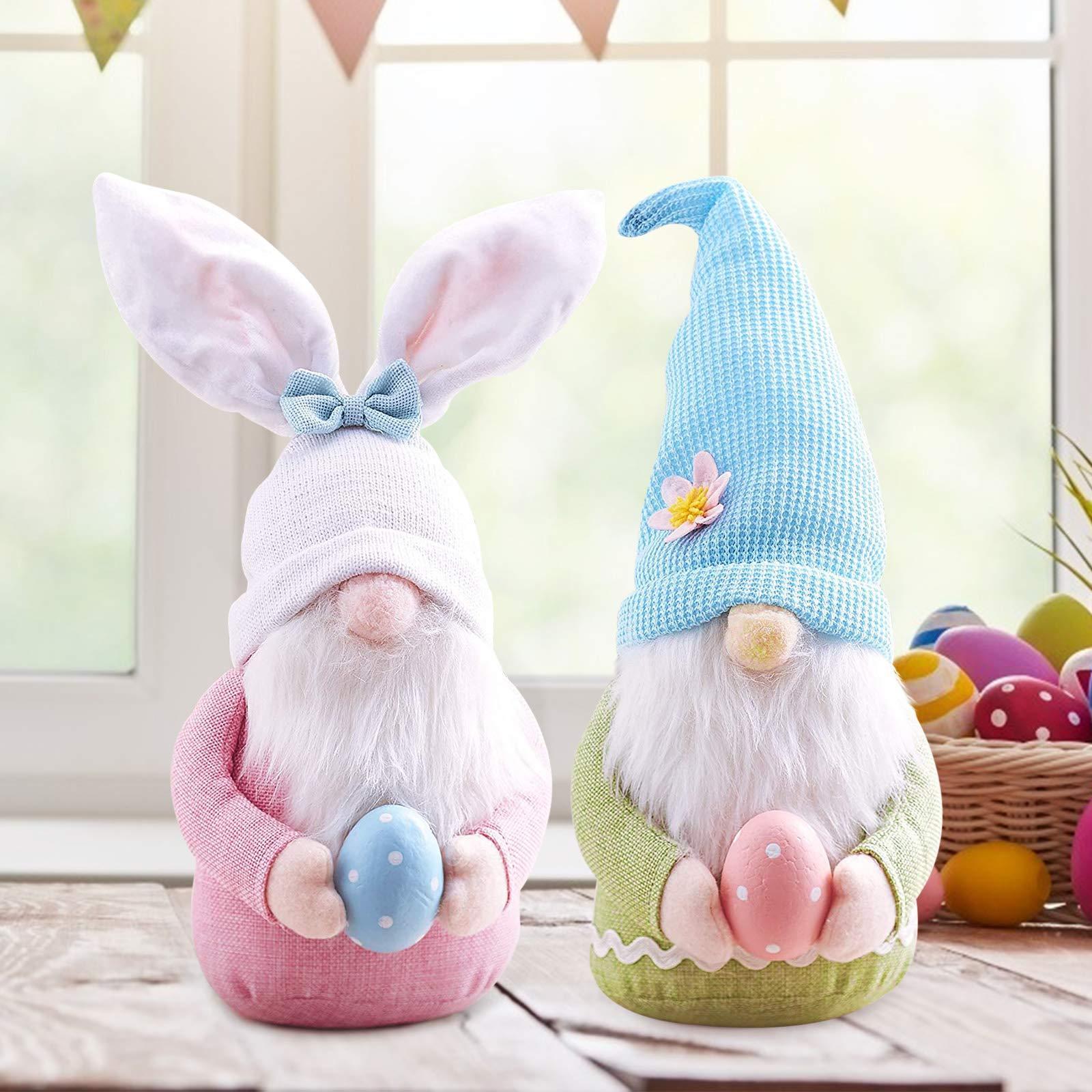 Boneca de Coelhinho da Páscoa Crianças Rabbit Rabbit Gnome Gnome Decoração de Mesa de Festa de Bollas