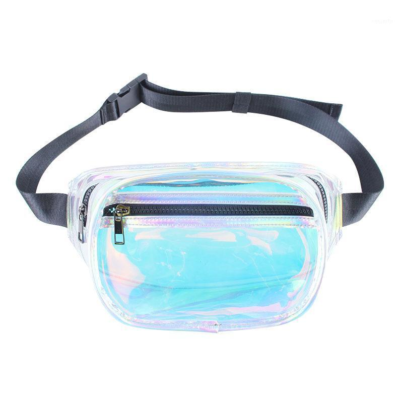 2020 European and American new fashion trendy waist bag colorful laser transparent wild waist bag factory direct sales1