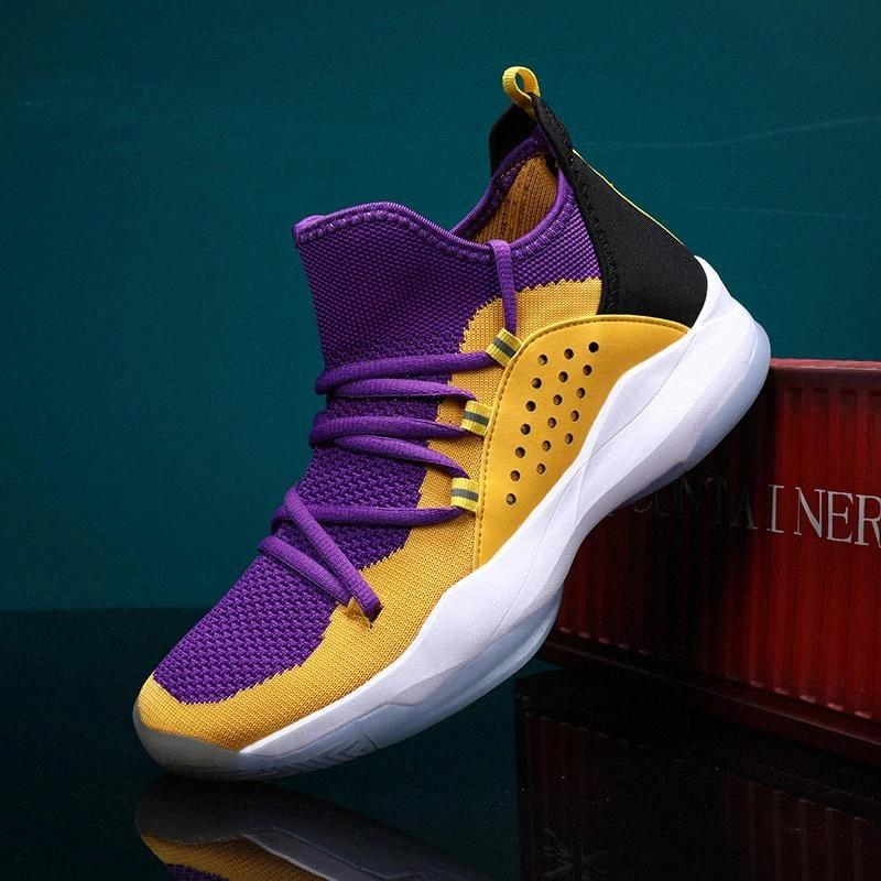 2021 Zapatillas de baloncesto para hombres Hombres High Top Sneakers LBJ Absorción de Shock Absorción Zapatos Hombres Transportes deportivos transpirables Botas de tobillo masculino # BP8x