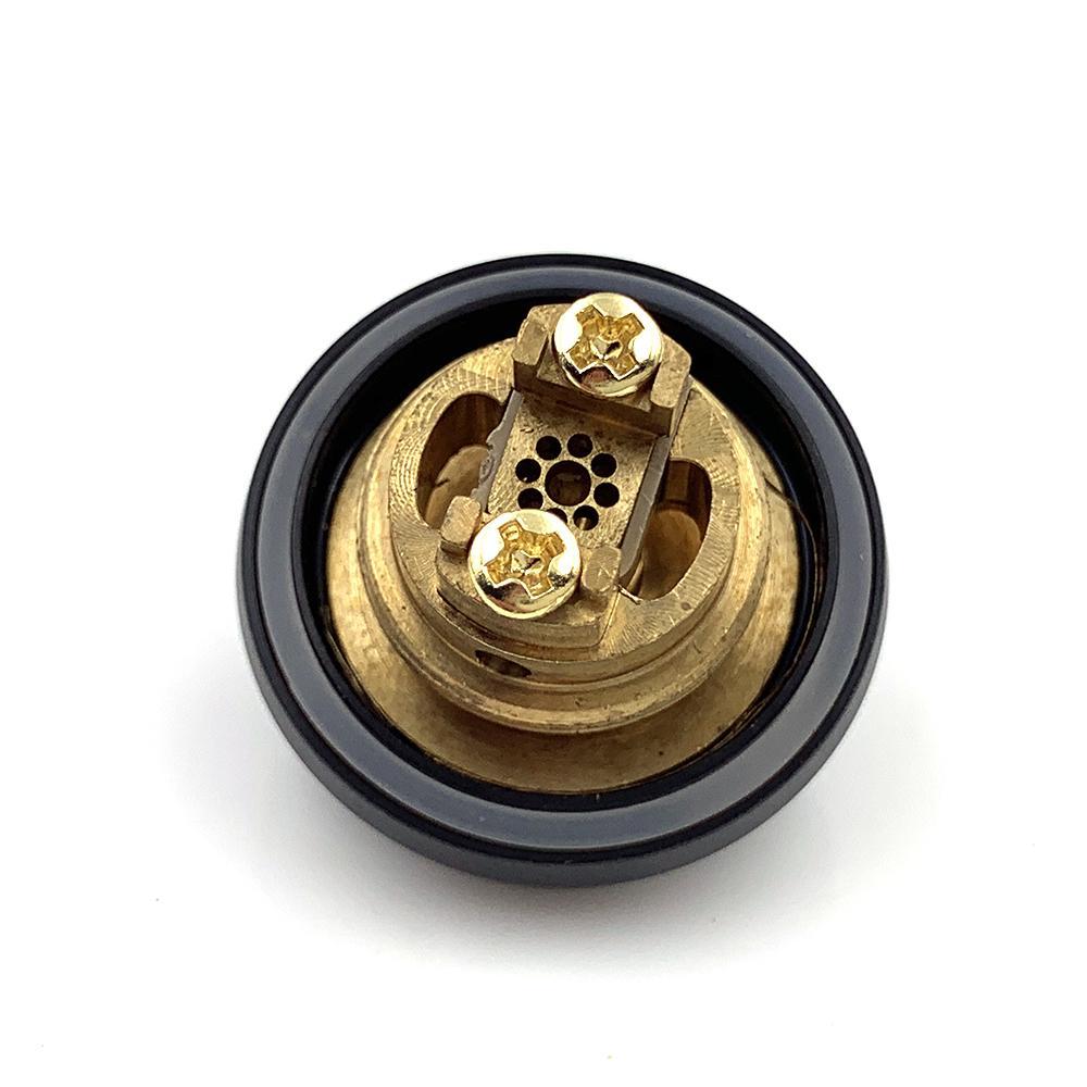 Nuova ricarica MTL Serbatoio RTA 22mm Diametro 2ml Capacità Atomizzatore regolabile con titoli a gocciolamento giallo Bocchino VAPE MOD