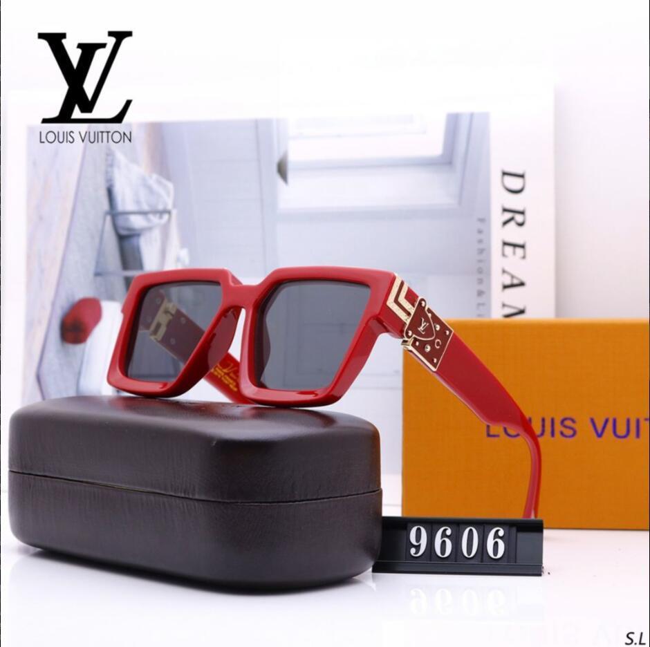 Übergroße Sonnenbrillen für Männer und Frauen Mode hoher Qualität männlichen Quadrat Sonne Glas weiblichen Metall Gradienten Schatten UV400 9606