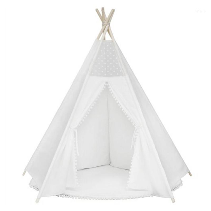 Çocuklar için teepee çadır katlanabilir çocuk kızlar ve erkek çocuklar için çadırlar 100% pamuk tuval playhouse oyuncaklar kız ve çocuk1
