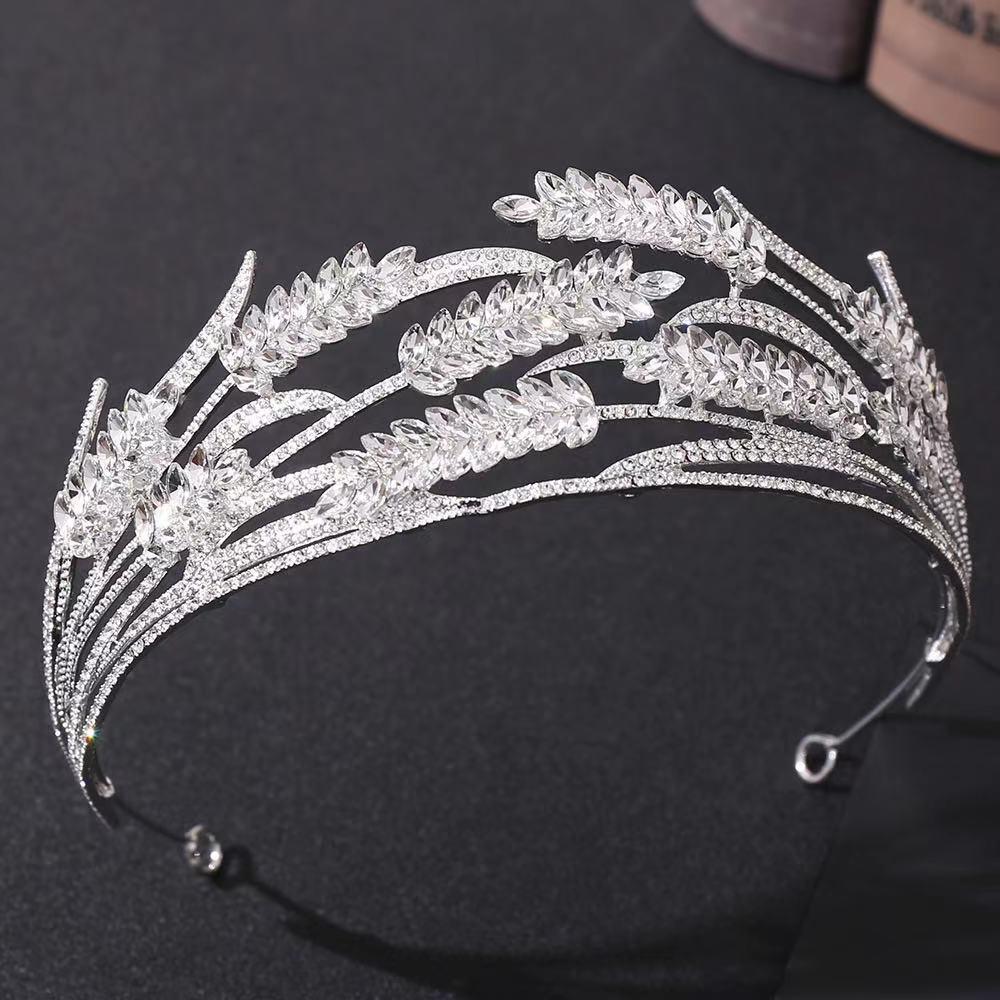 Luxe 2021 Mariage Mariage Tiara Strass Morceaux Cristal Bandeau de mariée Bandeaux De Cheveux Accessoires Soirée Robes de mariée
