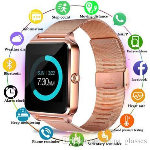 100pcs Z60 Smart Watch 1,54 pouce Couleur Écran Étape Sommeil Surveillance du sommeil Réveil Horloge Smart Wear Carte Bluetooth Sports Watchs pour: iPhone Samsung