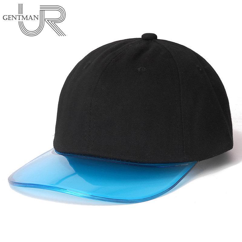 Nouveau Casquette de baseball transparent coloré Femme Plastique Visière chapeau de haute qualité Casquette de transats pour femmes ajustable Sports Sports Cap LJ201105