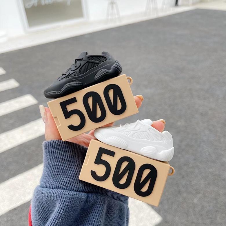 Sapatos 3D Saco de armazenamento de silicone para TWS Apple Airpods2 Pro Wireless Fone de Ouvido Capa 500 bolsa Shell com gancho de chaveiro