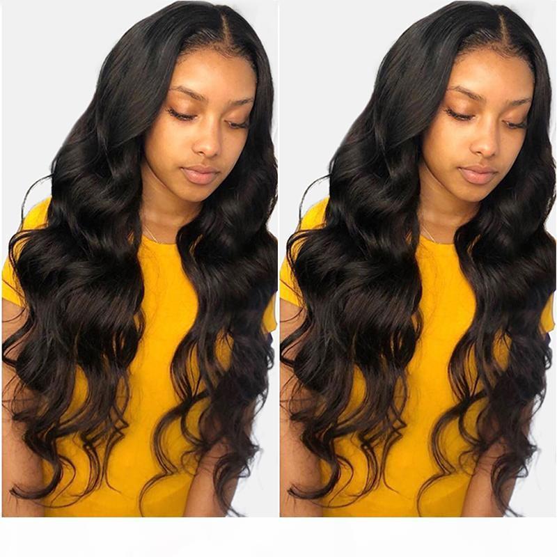HD прозрачный кружевной фронт парик человека свободно волна перуанская девственница блестящие предварительно сорванные 13x4 фронтальные парики для волос на черные женщины