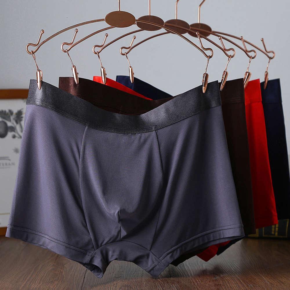 Biancheria intima modale di grandi dimensioni ingrasso del padre dei pantaloni grassi dei pantaloni da uomo Pantaloncini da uomo 4-angolo puro cotone