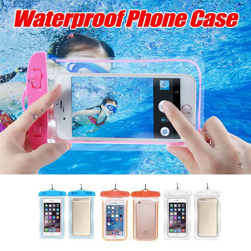 PVC sigillato Proof sacchetto impermeabile del telefono Borsa Custodia luminosa Telefono Acqua Custodia per iPhone 11 plus Samsung Galaxy