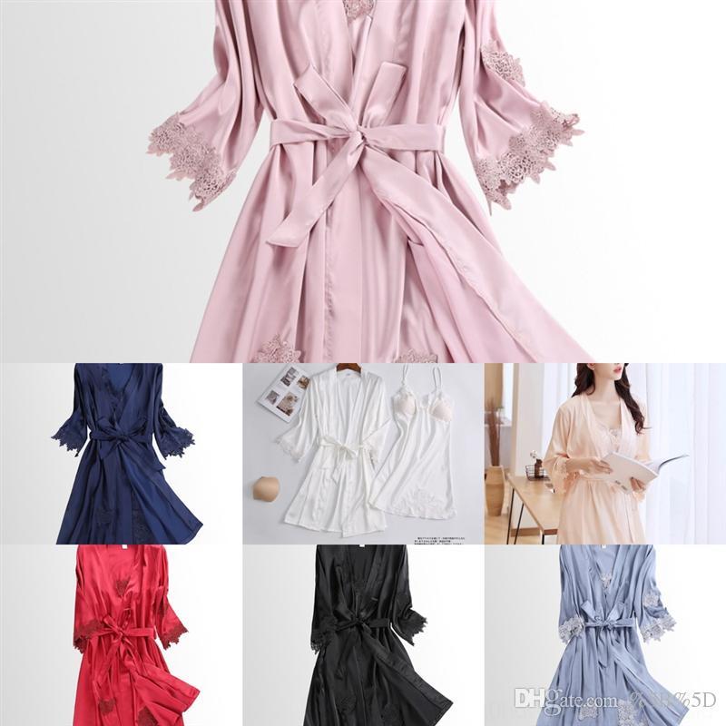 IBYP сексуальные женщины женские ночные шелковые ночные рубашки сексуальные кружевные лук-дизайнер спать ночь женские платья женские белье слинг пирева