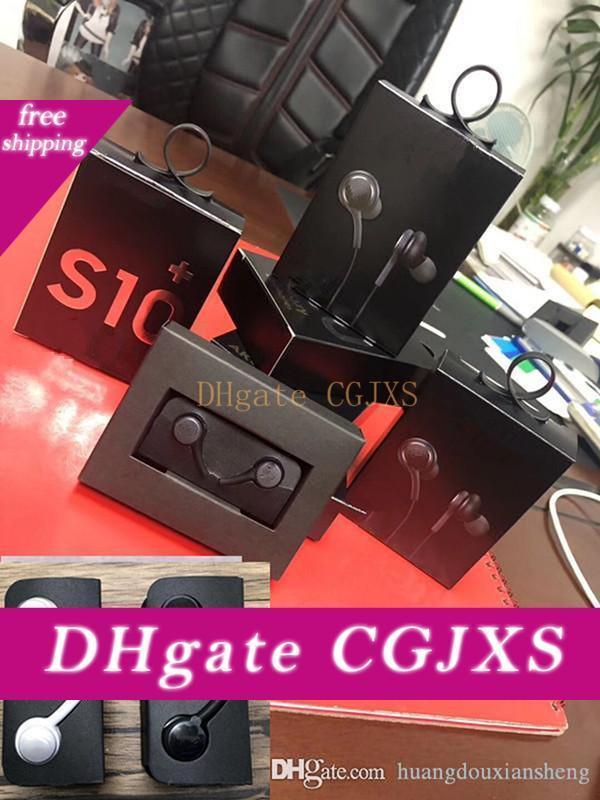 Tel Kulaklık Kulaklık için Samsung S10 S10e S10p Smartphone Kulaklık Kulaklık Kulaklık Siyah Ve Beyaz Eo -Ig955 ile Kutu