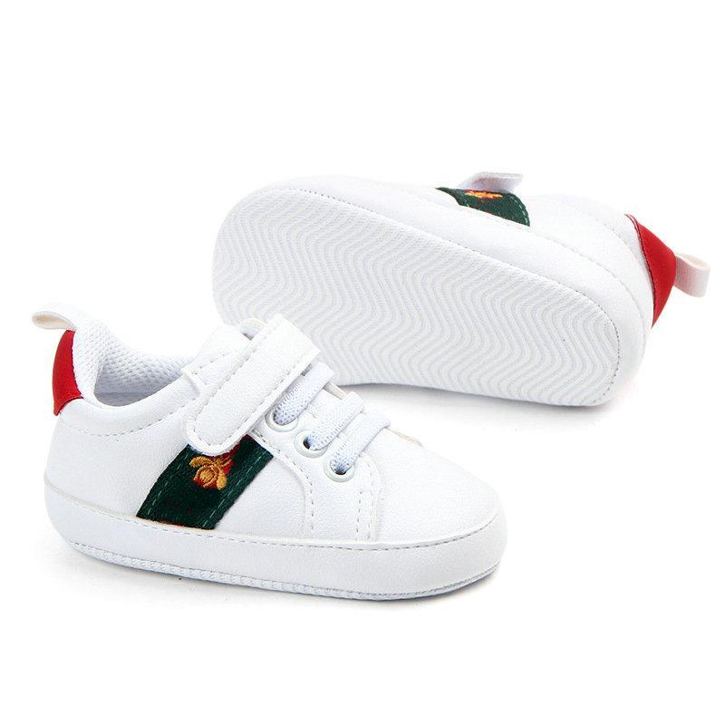 Newborn Baby Shoes Boys First Walkers Shoes Beaves Fondo suave Anti-Skid PREWALKER Sneakers 0-18 Meses Regalo. Envío gratis