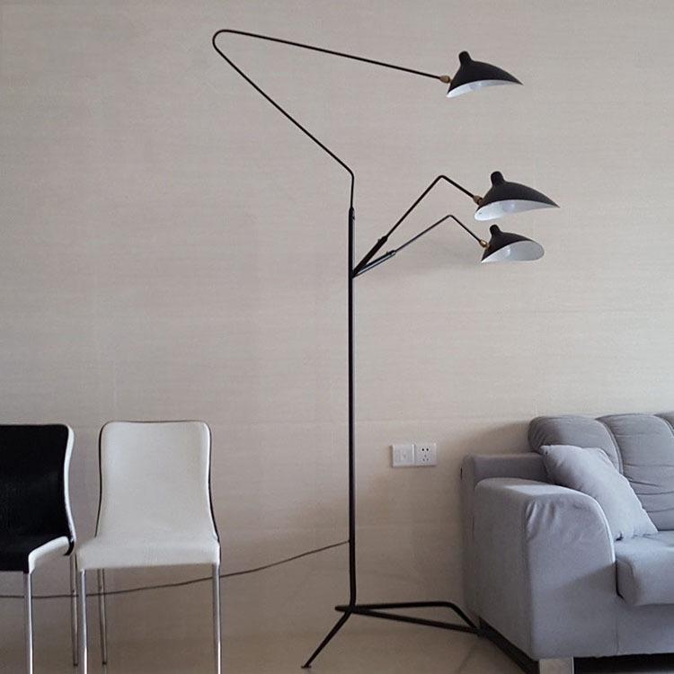 Nordic DAWN Spinne Serge Mouille Stehleuchte Modelling Schlafzimmer Industriestehlampe Einfach Wohnzimmer Led Boden Licht Leuchte