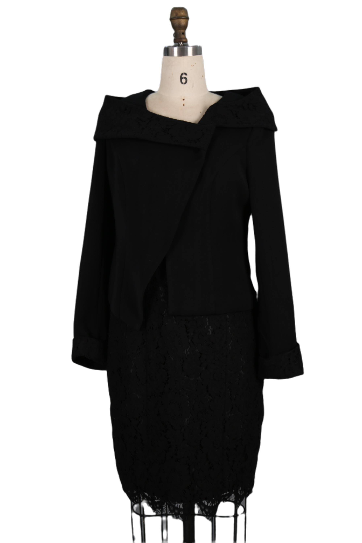 2021 nero vintage show temperamento tessuto antirughe speciale taglio cintura ricamo donne s abbigliamento 2 pezzi set