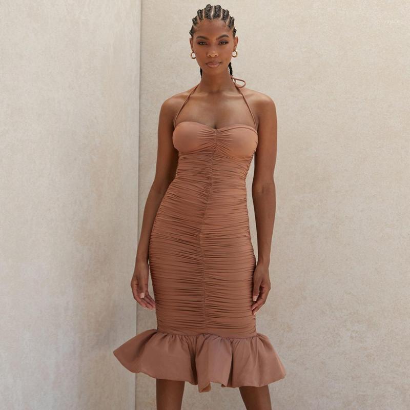 Kadın Elbiseler Bandaj Seksi Parti Kulübü Zarif Yeni Varış Haltersleeveless Bayan Giyim Yaz Sonbahar Dress1