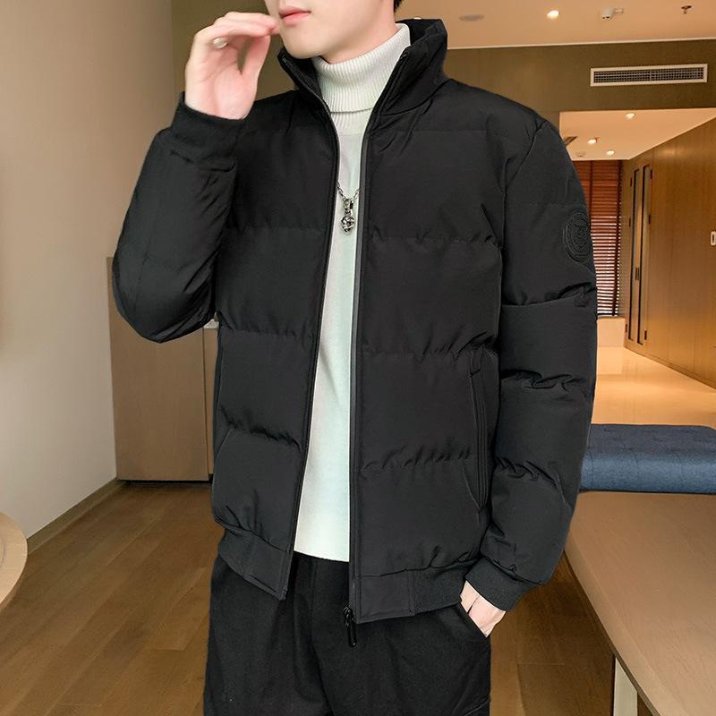 2020 Designer Veste matelassée Veste épaisse jeunesse Hommes Style Coréen Slim Mode Bas rembourré Collier Stand matelassée
