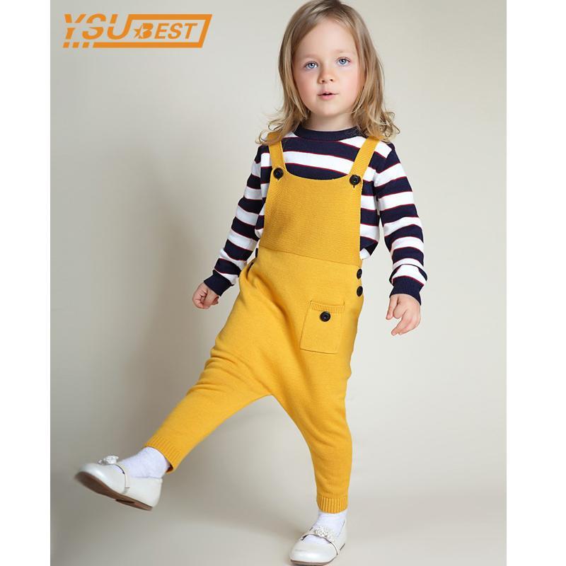 Kampe Yeni Bebek Erkek Kız Yün Tulum 1-5YRS Çocuk Pantolon Moda Çocuk Giyim Pamuk Daha Renkli Çocuk Pantolon 201112