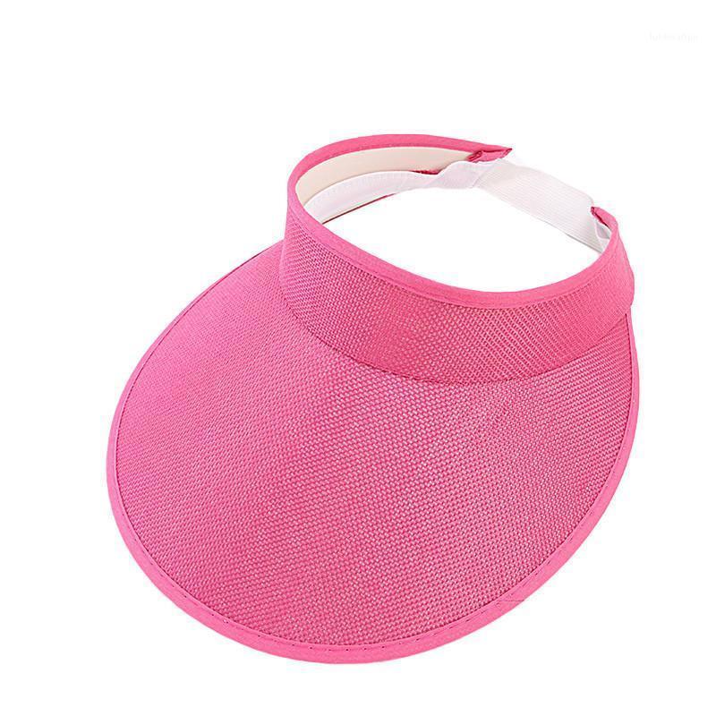 Damas para mujer Chicas Visor deportivo Cap ajustable Deportes Sun Hat Sombreros de Mujer1