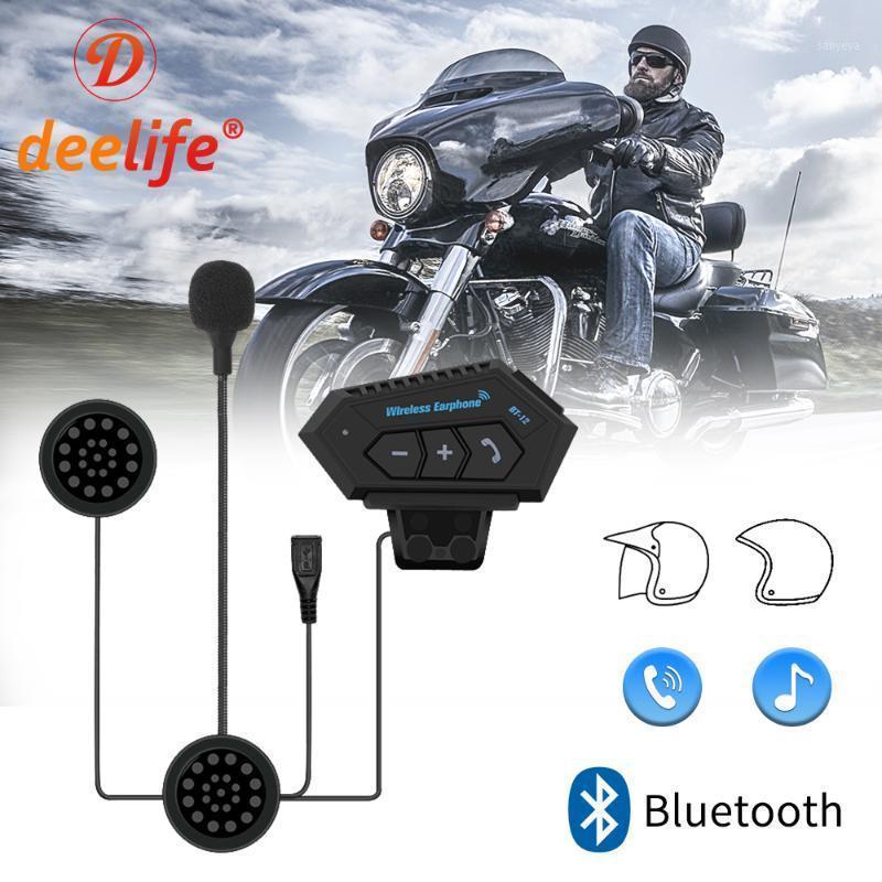 Deelife Kablosuz Bluetooth Kask Handsfree Motosiklet Kulaklık Moto Motor Bisikleti Motocross Müzik Kulaklıklar Ile Mikrofon1