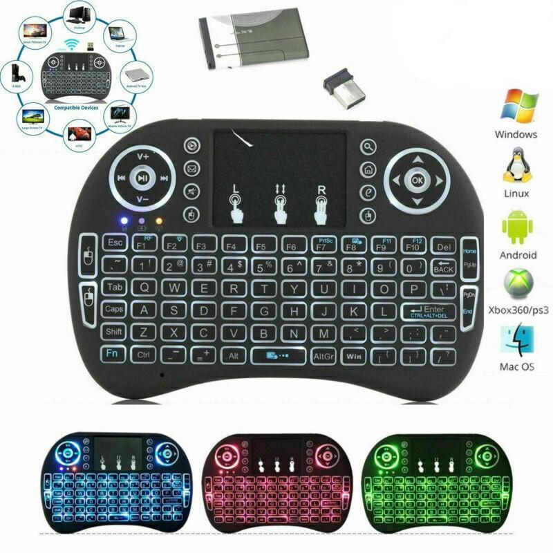 Kablosuz Mini I8 Klavye Arkadan aydınlatmalı Arka Plan Uzaktan Kumanda Android TV Kutusu Için 2,4g Hava Fare Tuş Takımı Touchpad Akıllı PC Oyunları ile