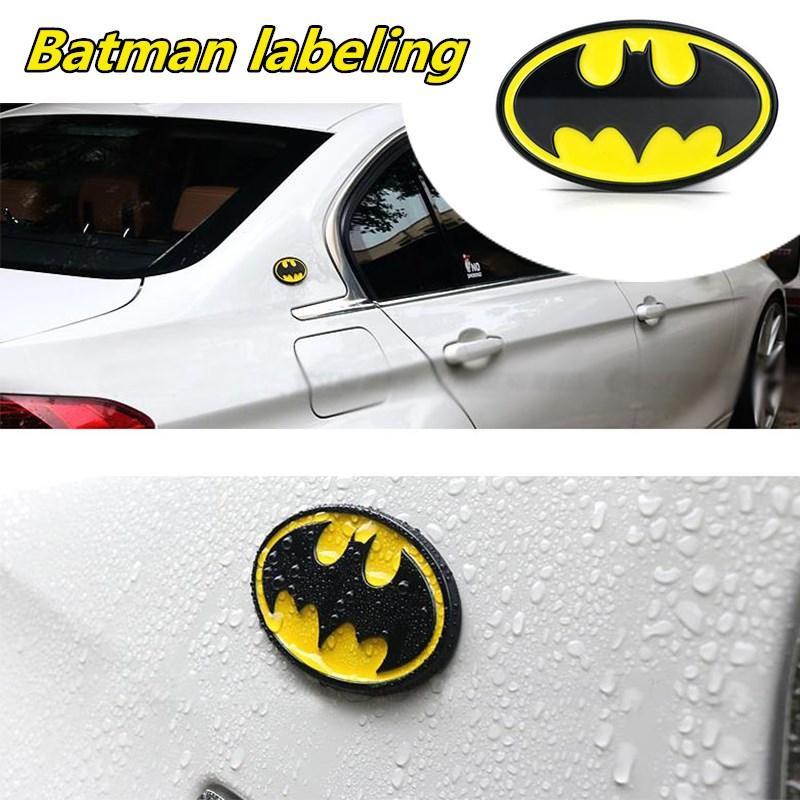 1 PCS 3D Metal Batman Logo Emblema Pegatinas Auto Coche Emblema Adhesivo Etiqueta Etiqueta Estilo Accesorios Accesorios Para Motocicletas Tuning Car-Styling