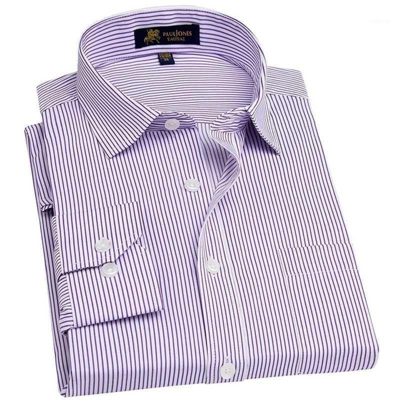 Мужские рубашки платья мужская рубашка с длинным рукавом с длинным рукавом рубашка с грудиным карманом Plus Размер PINSTRIPED / TWILL / BroadCloth Мужские топы формальная работа SH