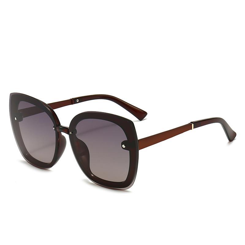 2021 جديد أزياء عالية الجودة مصمم نظارات عالية الجودة ماركة الاستقطاب عدسة نظارات الشمس النظارات للنساء النظارات المعدنية الإطار 556
