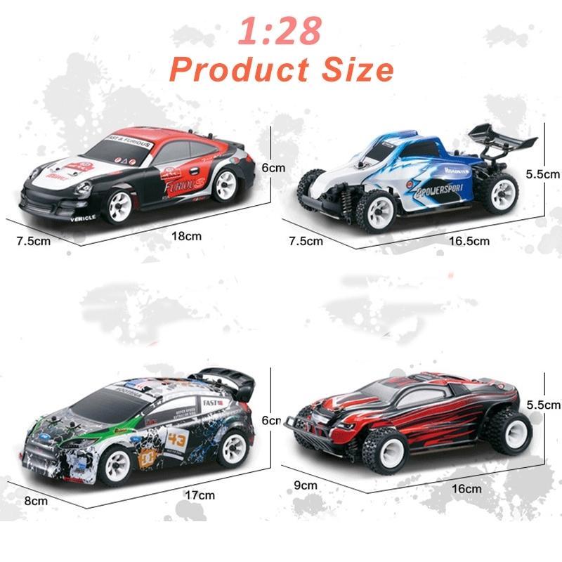 30 км / ч WLTOYS 1:28 RTR RC 2.4G 4WD 4 канала Drift Racing K969 / K989 для выбора пульта дистанционного управления автомобилем 201218