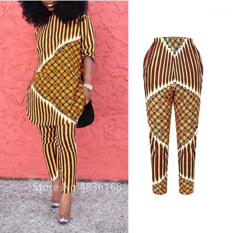 Donne Vestiti africani African Elastic Waist Pants Bandage Danshiki Stampato Pantaloni a Pantaloni a Pantaloni ad alta vita ad alta vita Casual Streetwear Summer Fashion1
