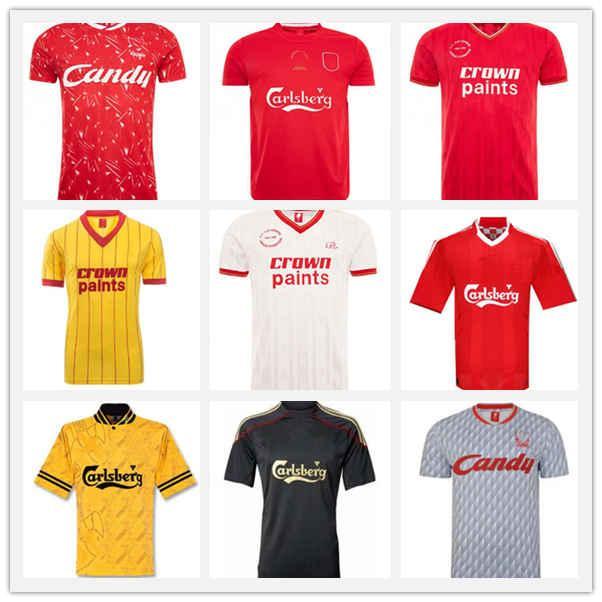 Retro Gerrard Rush Dalglish Classic Fussball Jersey 1999 2000 01 02 03 04 05 06 07 08 09 10 Fußball-Hemd