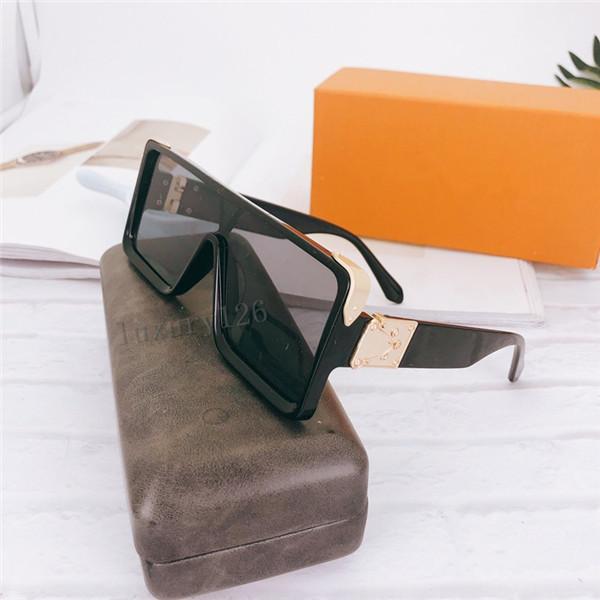 Designer de haute qualité Marque de luxe femmes rétro grand cadre marque deigneur vintage lunettes de soleil lunettes de soleil pour femme lunettes de soleil UV à la mode avec dans la boîte