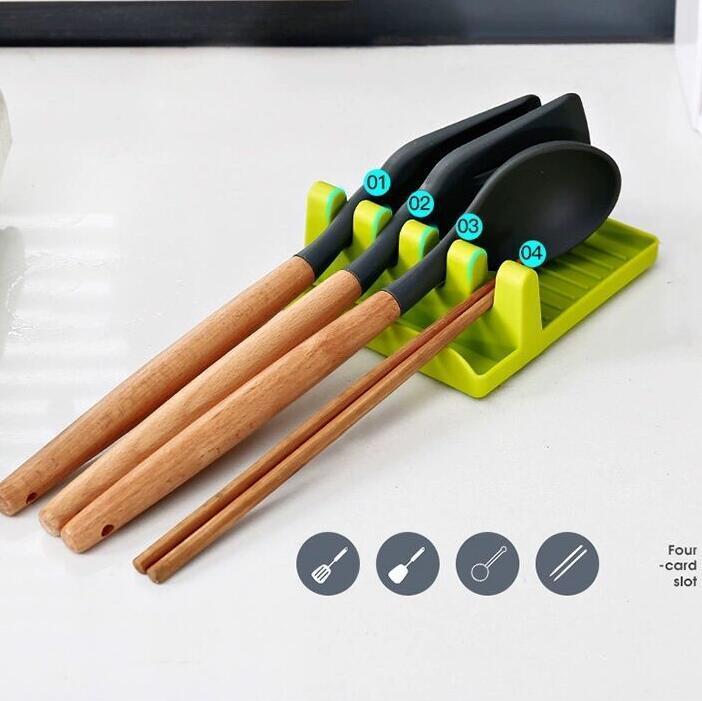 Cozinha Utensílio Prateleira Colher Suporte Suporte Plástico Ladle Pá Descanso Para Cobrir Cobrir Cutelaria Spatula Titular Acessórios de Cozinha FFE3728