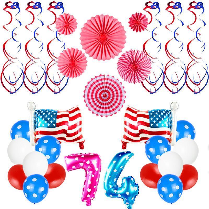Воздушный шар Набор алюминиевой фольги шар номер 7 4 Письмо пришивания Воздушные шары День рождения Свадьба украшение