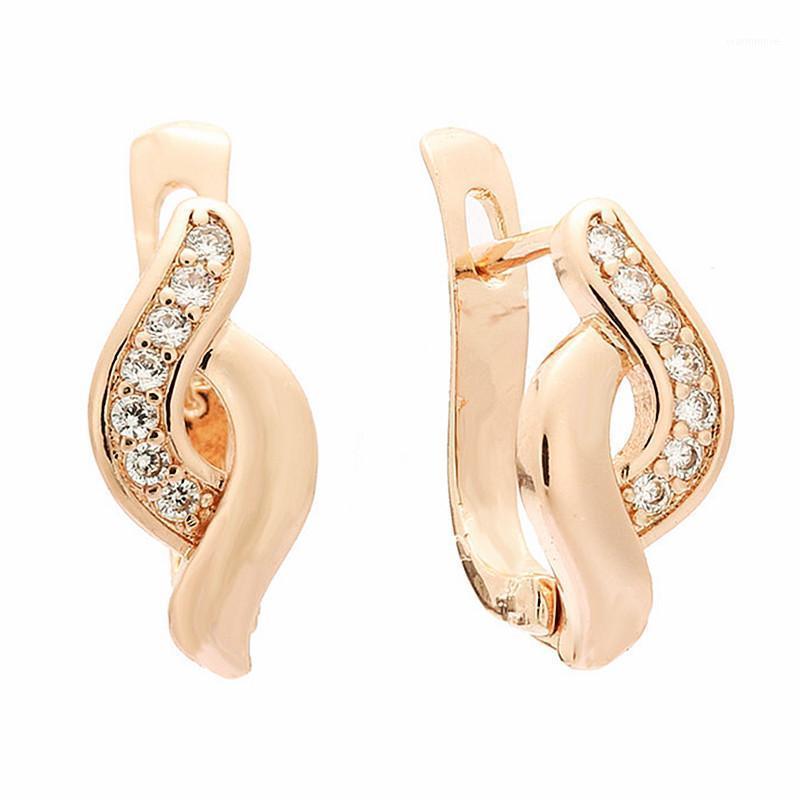 Femmes déposer des boucles d'oreilles en gros Femme bijoux rose or couleur femme accessoires luxe nouvelle conception filles goutte boucle d'oreille1