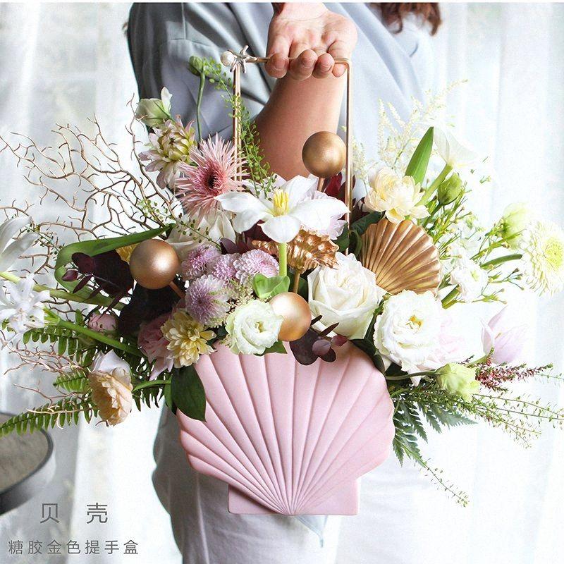 Held dulce a prueba de agua del centro de flores Caja floral decoración caja de regalo para manos cesta de la flor rMra #