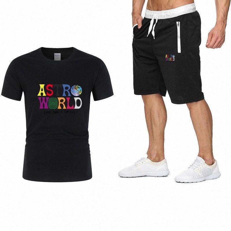 Correr: camisa de manga corta de alta calidad camiseta ocasional del juego de pantalones de deportes de los hombres + de los hombres ropa deportiva camiseta # 2 juegos GRTF