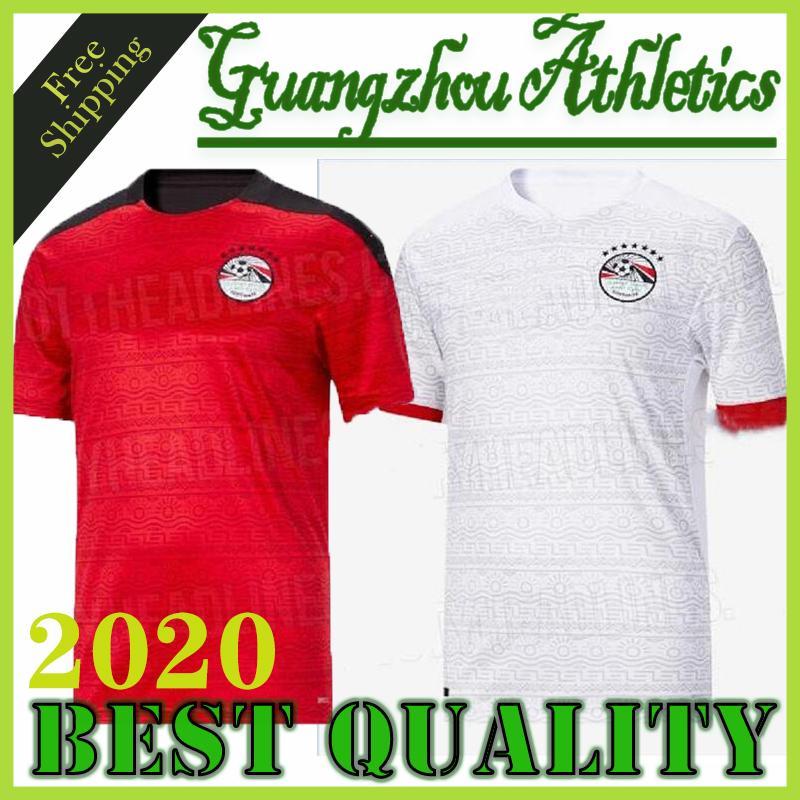 2020 2021 Egipto camiseta de fútbol M. SALAH Inicio rojos blancos ausentes 20 21 Kahraba A. HEGAZI RAMADAN M.ELNENY uniformes jerseys camisetas footbal