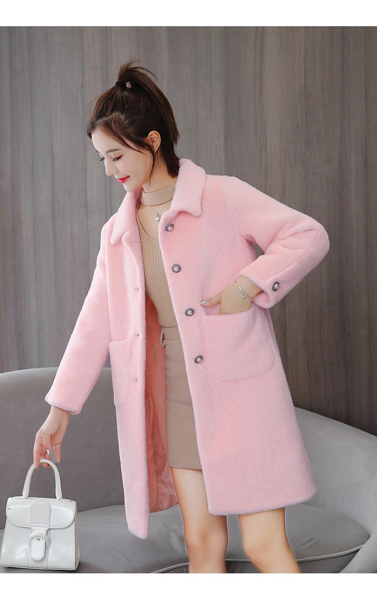 Manteau d'hiver pour les femmes Trench Coat Femme coupe-vent Woollen breasted Pardessus Femme Simple Vêtements Manteaux Coupe-vent