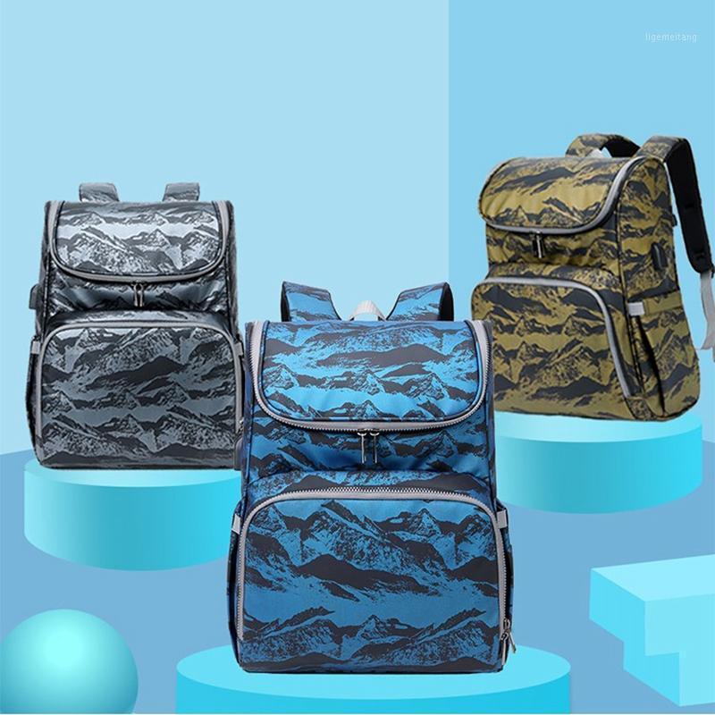 Baby Diaper Bag Backpack Portatile Semplice culla Pieghevole Momms Borsa Maternità Maternità Nursing Cappy Borse da viaggio Kits1 Axunj