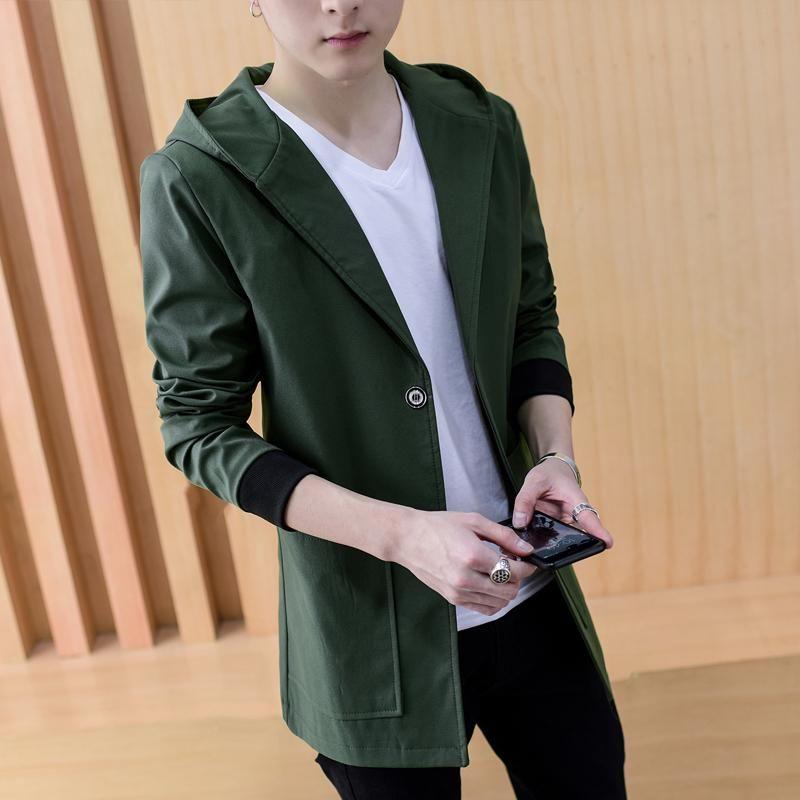 KOLMAKOV Neue Korean Casual Herren Slim Fit Jacken Männer Streetwear Jacke Massive Strickjacke Mit Kapuze Lange Mantel Männlich 4 Farbe M-5XL