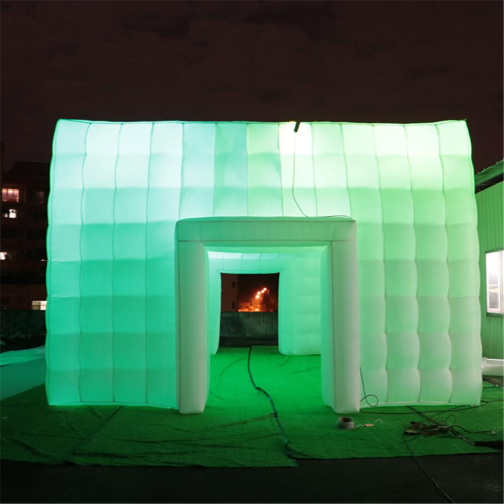 10x6x3.6m Giant Cube Marquee Inflatable Cabinet Oxford Nylon Fabric Large Square Cubic House Wedding Party With Windows For Event