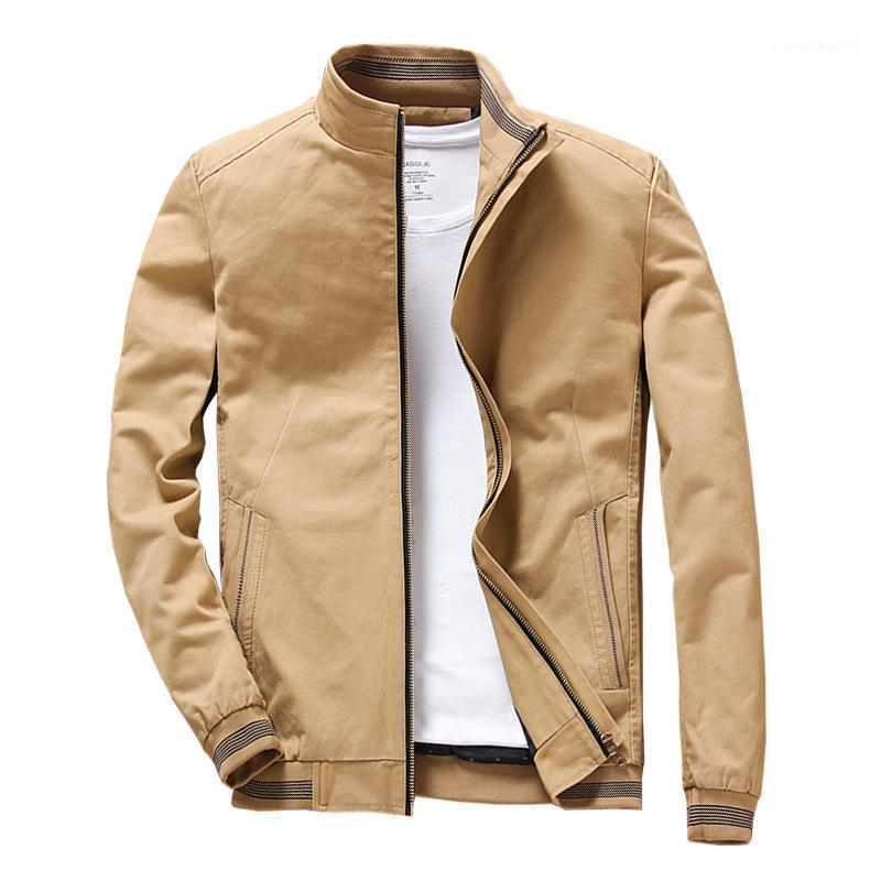 Dimusi printemps automne vestes de bombardier pour hommes occasionnels hommes d'attente de vent arrière-plan de colle-cols de colleball masculin manteaux 5XL Y20141