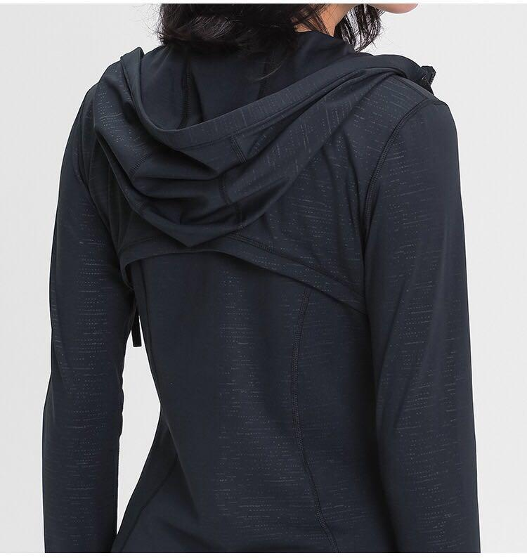 Düz Hoody Kadınlar Zip Up Yoga Ceket Elastik Uzun Kollu Spor Spor Coat Spor Koşu Giysileri Seksi Ince Atheltics Giyim Yogaworld