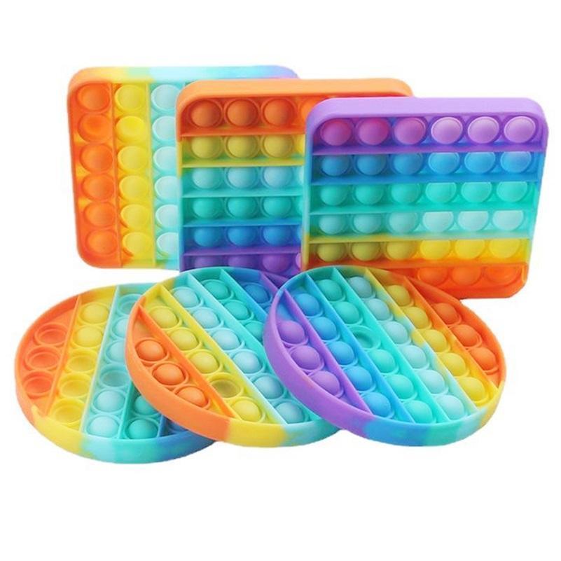 Красочные декомпрессионные игрушки сенсорные толчок Pop пузырь сенсорный игрушка аутизм беспокойство стресс подстрека для студентов офисных работников