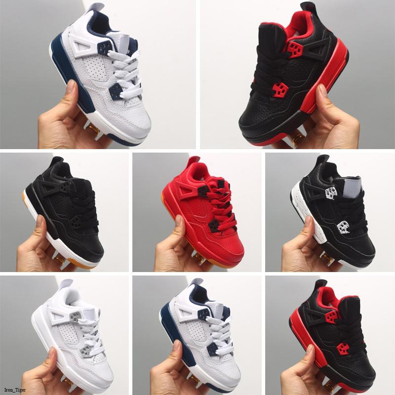 Novo 4 Kids Basketball Shoes Crianças Sapatos de Esportes Ao Ar Livre Gym Chicago 4s Luxo Athletic Boy Meninas Sneakers EUR 28-35