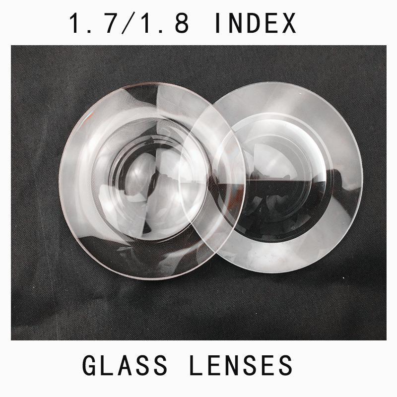 (Vidro) 1.8 Índice Ultra Óculos Alto Índígeno Fino Vidro Lente De Vidro Branco Vidros